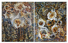 Brown Tide Diptych by Joanie San Chirico (Acrylic Painting)