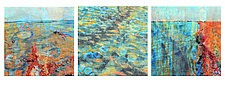 OWB: You Never Walk on the Same Beach Twice Triptych by Joanie San Chirico (Acrylic Painting)