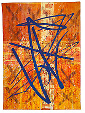 Wander in Blue by Catherine Kleeman (Fiber Wall Hanging)