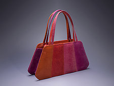 Multi Handled Bag Sherbet Colors by Michelle  LaLonde (Leather Purse)