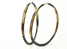 Large Gold and Silver Splash Hoops by Ayesha Mayadas (Gold & Silver Earrings)
