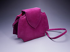 Phillie Evening Bag in Magenta by Michelle  LaLonde  (Leather Purse)
