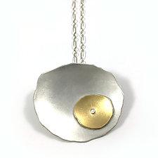 Offset Flutter Necklace by Lisa Crowder (Gold & Silver Necklace)
