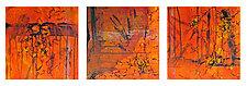 Firestorm Triptych by Joanie San Chirico (Acrylic Painting)