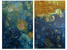 Surge Diptych by Joanie San Chirico (Acrylic Painting)