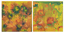 Red Tide 1&2 Diptych by Joanie San Chirico (Acrylic Painting)