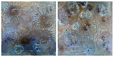 Bloom #5 (Diptych) by Joanie San Chirico (Acrylic Painting)