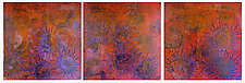 Red Tide #16 (Triptych) by Joanie San Chirico (Acrylic Painting)