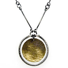 Single Stirrup Necklace by Lisa Crowder (Gold & Silver Necklace)