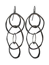 Large Jumble Earrings by Lisa Crowder (Silver Earrings)