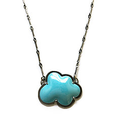 Cloud Necklace by Lisa Crowder (Enameled Necklace)