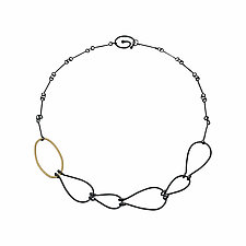 Hatch Feather Necklace by Lisa Crowder (Gold & Silver Necklace)