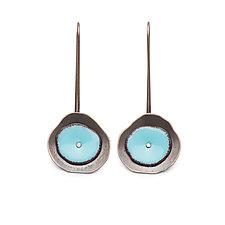 Tiny Enamel Flutter Earrings by Lisa Crowder (Silver & Enamel Earrings)