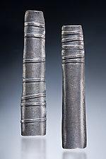 Asymmetric Line Earrings by Nina Mann (Silver Earrings)