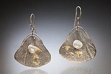 Mirage Earring #1 by Nina Mann (Gold, Silver & Stone Earrings)