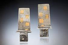 Domino Earrings by Nina Mann (Gold, Silver & Stone Earrings)