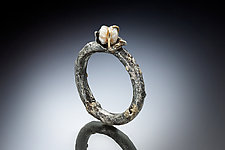 Anna Ring by Nina Mann (Gold & Pearl Ring)