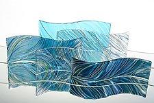 Ocean Waves by Nina Falk (Art Glass Sculpture)