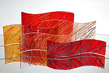 Autumn Waves by Nina Falk (Art Glass Sculpture)