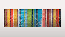 Horizontal Tapestries in Glass by Nina Falk (Art Glass Wall Sculpture)