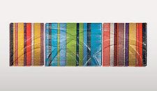 Horizontal Tapestries in Glass by Nina Falk (Art Glass Wall Sculpture)
