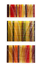 Autumn Tapestries by Nina Falk (Art Glass Wall Sculpture)