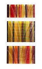 Autumn Tapestries by Nina Falk (Art Glass Wall Sculpture)
