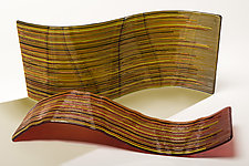 Autumn Wind by Nina Falk (Art Glass Sculpture)
