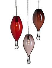 Ellipse Droplet by Moshe Bursuker (Art Glass Pendant Lamp)