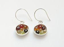 Small Oval Earrings by Ashka Dymel (Silver & Stone Earrings)