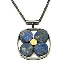 Lapis Necklace by Ashka Dymel (Silver & Stone Necklace)