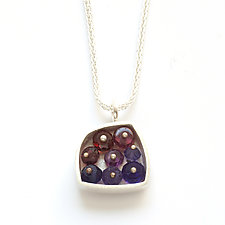Jeweled Cluster Necklace by Ashka Dymel (Silver & Stone Necklace)