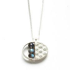 Split Oval Necklace with Labradorite by Ashka Dymel (Silver & Stone Necklace)