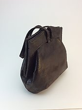 Elisa Dark Brown Wave Evening Bag by Michelle  LaLonde  (Leather Purse)