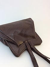Halle Evening Bag in Dark Chocolate Wave Lambskin by Michelle  LaLonde  (Leather Purse)