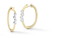 Cono Cluster Hinged Hoop by Dana Melnick (Gold & Stone Earrings)