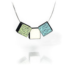 Triple Small Boxy by Lou Ann Townsend and Mary Filapek (Metal Necklace)