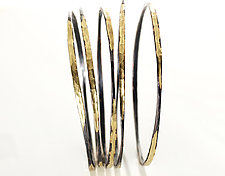 Splash Bangle Stack by Ayesha Mayadas (Gold & Silver Bracelets)