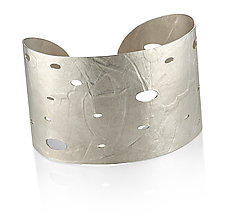 Wafer Cuff in Sterling Silver by Ayesha Mayadas (Silver Bracelet)