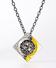 Square Beyond the Sea Necklace by So Young Park (Gold, Silver & Pearl Necklace)