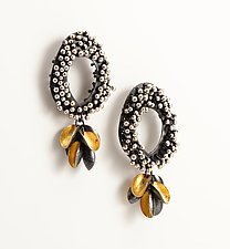 Short Gold Seed Earrings by So Young Park (Gold & Silver Earrings)