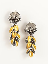 Long Gold Seed Earrings by So Young Park (Gold, Silver & Pearl Earrings)