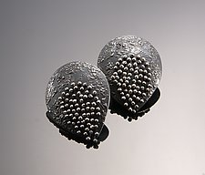 Moving Wire Teardrop Earrings by So Young Park (Silver Earrings)