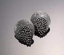 Moving Wire Teardrop Earrings by So Young Park (Silver Earrings)