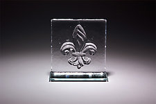 Fleur de Lis Bookend by Casey Hyland (Art Glass Sculpture)