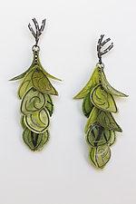 Green Flip Earrings by Carol Windsor (Silver & Paper Earrings)