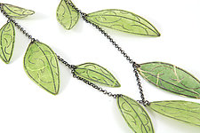 Green Leaf Necklace by Carol Windsor (Silver & Paper Necklace)