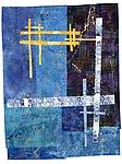 Blue Moon by Catherine Kleeman (Fiber Wall Hanging)
