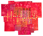 Downtown by Catherine Kleeman (Fiber Wall Hanging)