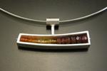 Horizontal Wedge Necklace by Ashka Dymel (Silver & Stone Pendant)